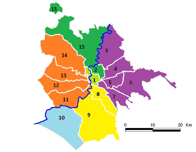 Cartina Roma Est.Roma Nord Roma Sud E Tutto Il Resto Della Citta