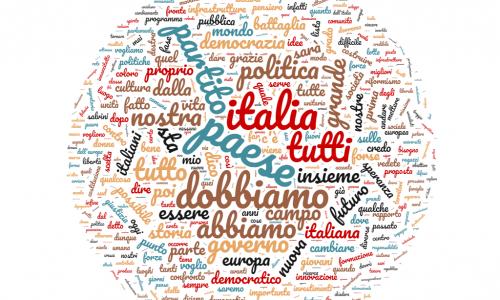 Le parole chiave di Zingaretti. La nuova tag-cloud del Partito Democratico.